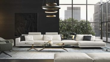 Элегантная гостиная с модульным диваном и кофейным столиком MONDRIAN
