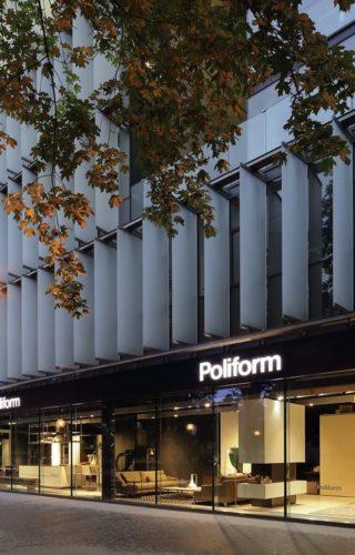 Обновленный мебельный салон Poliform в Вене