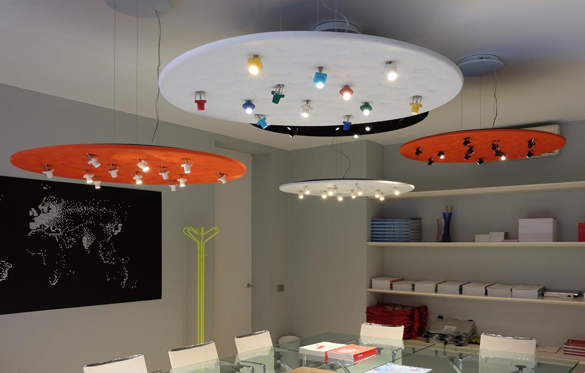 Потолочный светильник, светильник в детскую, детские светильники, купить светильник, подвесной светильник, люстра, Artemide, Silent Field, светодиодные светильники, светодиодные лампы, итальянский светильник, дизайнерский светильник