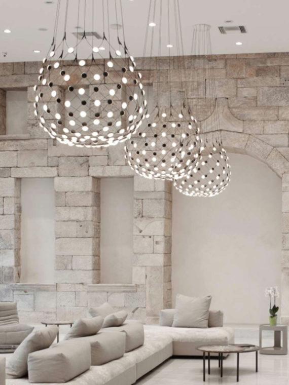 подвесной светильник, Mesh, Luceplan, Luceplan Mesh, итальянское освещение, светильники из Италии, подвесной светильник из Италии, стильный светильник, светодиодное освещение, дизайнерские светильники, дизайнерское освещение, итальянский стиль