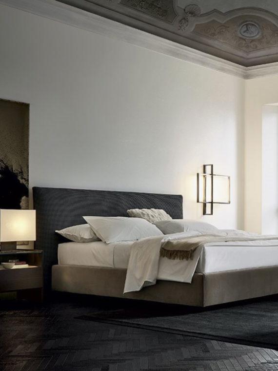 Кровать Poliform Bruce, Poliform, Кровать, стильная кровать, дизайнерская кровать, мебель для спальни, итальянская мебель, итальянский стиль, мебель из Италии, современный стиль, современная мебель, дизайн интерьера, купить кровать, купить кровать Калининград, современный интерьер, мебель для спальни, стильная спальня, кровать для качественного сна,Poliform в Калининграде