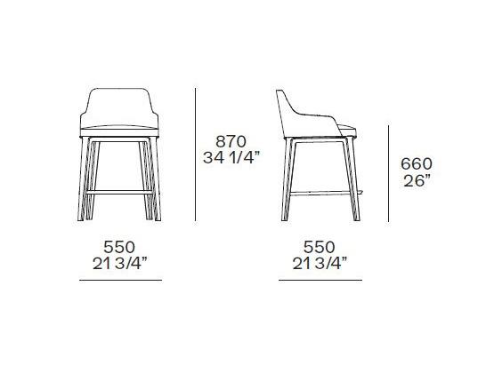 Итальянская мебель, итальянский стиль, мебель из Италии, современный стиль, современная мебель, дизайн интерьера, стильный барный стул, дизайнерский барный стул, купить барный стул в Калининграде, барный стул Poliform Sophie, мебель Poliform в Калининграде