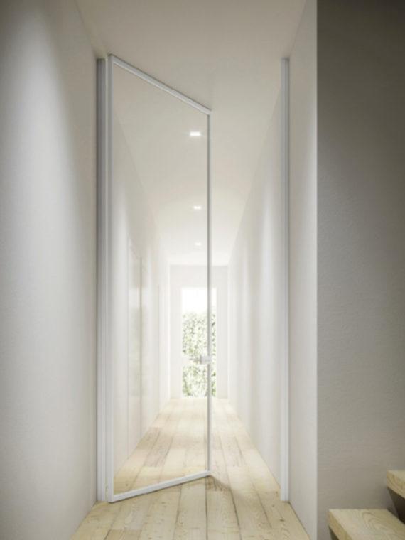 Межкомнатные двери, двери Калининград, купить дверь в Калининграде, стильные двери, дизайнерские двери, итальянские двери, двери из Италии, ADL, ADL Mitica, маятниковые двери, дизайн интерьера, современный интерьер, стиль минимализм, стеклянные двери, стеклянные двери Калининград