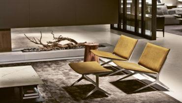 Элегантное кресло Poliform Kay Lounge в современном стиле