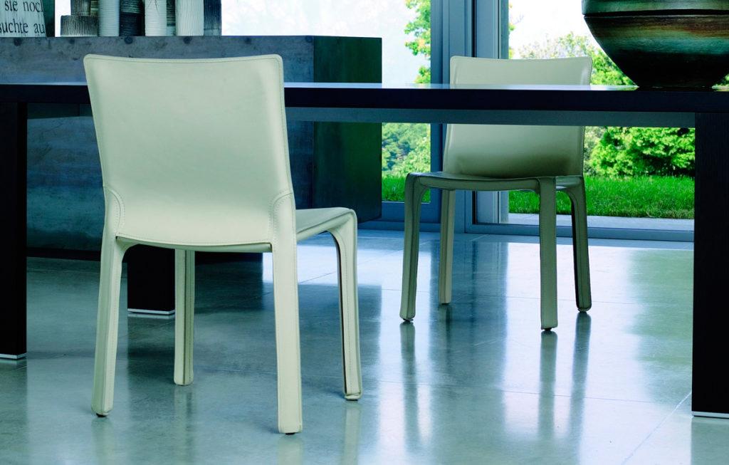 Кожаные стулья Cab, кожаные кресла Cab, кресла и стулья купить, Марио Беллини