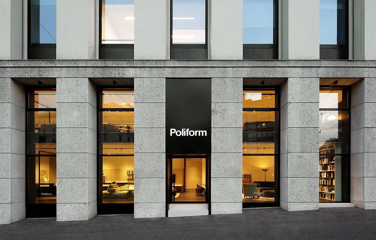 Обновленный салон Poliform на площади Кавур, Милан