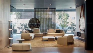 Роскошный модульный диван Saint-Germain от бренда Poliform