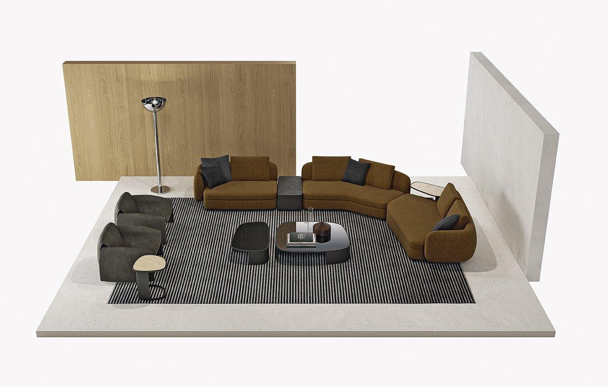 Итальянский диван, дизайнерский диван, угловой диван купить, диван Poliform Saint-Germain, диваны Италия